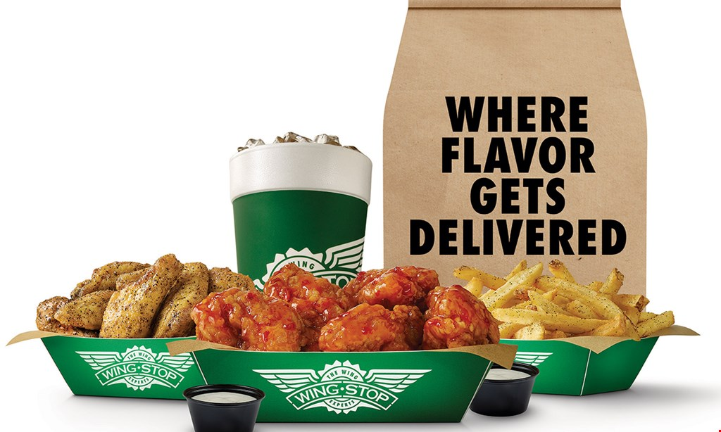Product image for Wingstop - Bartow 5 Free boneless wings with any wing purchase.