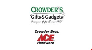 Product image for Crowders Gifts And Gadgets $5 off your next purchase of $25 or more of regularly priced merchandise.