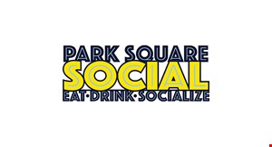 Product image for Park Square Social $10 Off any purchase of $50 or more
