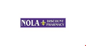 Product image for Nola Discount Pharmacy $5 off any purchase ($30 or more).