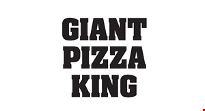 "Product image for Giant Pizza King Only $35.99 +tax 28"" giant with 3 toppings, 10 wings or pasta & 2 ltr soda."