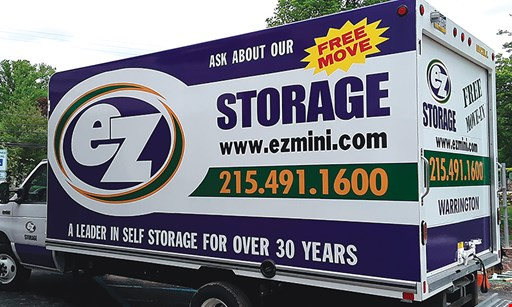 Product image for EZ Storage ONE MONTH FREE. FREE LOCAL MOVE IN TRUCK. FREE $25 GIFT CARD