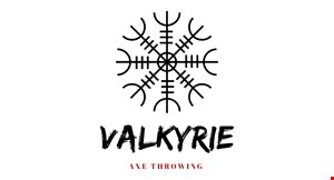 Product image for Valkyrie Axe Throwing $20 off group party of 6 or more.