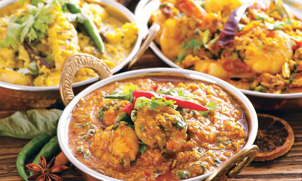 Product image for Indian Cafe LUNCH SPECIAL THALI $2 OFF buy 2 lunch Thalis, get $2 off.