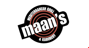 Product image for Maan's Mediterranean Grill $5 off any order