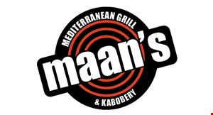 Product image for Maan's Mediterranean Grill $10 OFF any order of $50 or more.
