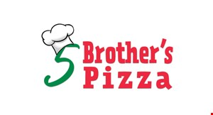 Product image for 5 Brothers Pizza $10 off any purchase