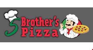 Product image for 5 Brothers Pizza $10 OFF any purchase of $45 or more.