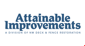 Product image for Attainable Improvements $100 Off deck & railing refinishing 500 sq. ft. or more.