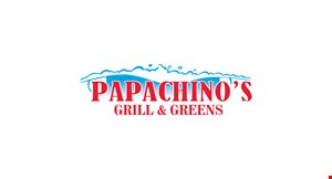Product image for Papachino's Grill & Greens $10 off any purchase of $50 or more.