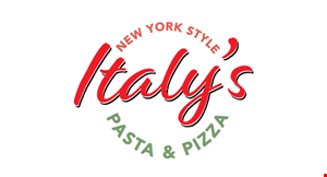 Product image for Italy's Pizza $10 OFF any purchase of $50 or more.
