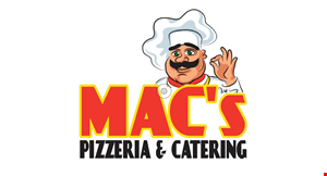 "Product image for Mac's Pizzeria & Catering $14.99 + tax Small 10"" Cheese Pizza & 6 Wings."