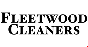 Product image for Fleet Wood Cleaners ANY GARMET Dry Cleaned & Pressed. $1.75 NO LIMIT