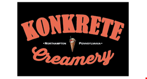 Product image for Konkrete Creamery $1 off one quart of ice cream.