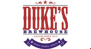 Product image for Duke's Brewhouse $10 off any purchase of $40 or more.