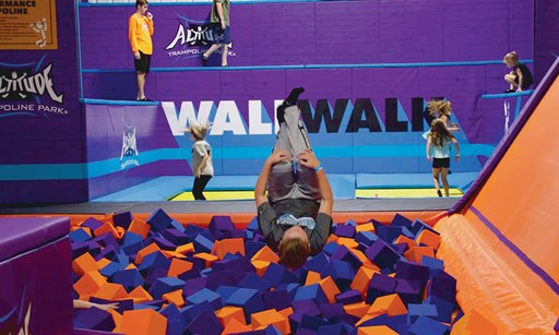 Product image for Altitude Trampoline Park $5 Off a jump pass.