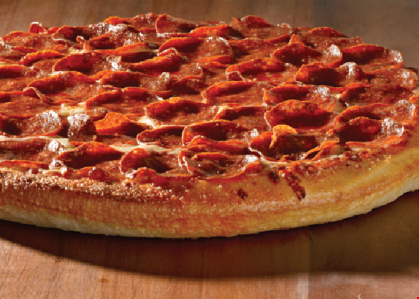 "Product image for Mannino's 2 FOR $19.99 2-14"" med. 1-topping each pizzas."