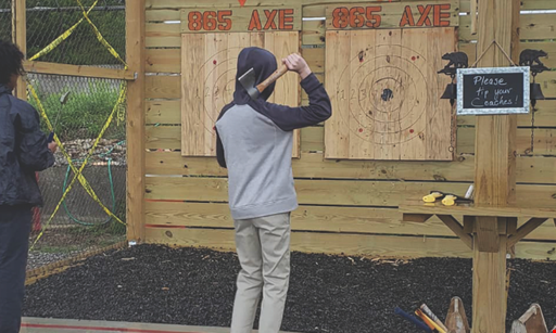 Product image for 865 Axe Throwing FREE 2 kids throw free accompanied by 2 paying adults