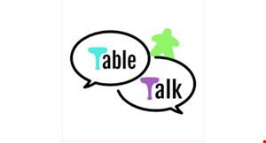 Table Talk SRQ Board Game Cafe logo