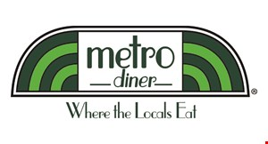 Product image for Metro Diner $5 Off your purchase of $20 or more.
