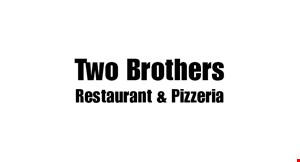 Product image for Two Brothers Restaurant & Pizzeria $5 off any purchase of $25 or more