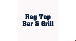 Product image for Rag Top Bar & Grill $10 off any purchase