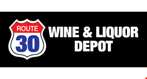Product image for Route 30 Wine & Liquor Depot 5% Off any purchase of $75 or more.