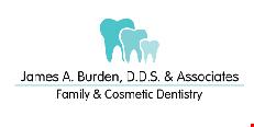 Product image for James A Burden, D.D.S. & Associates New Patient Special $79