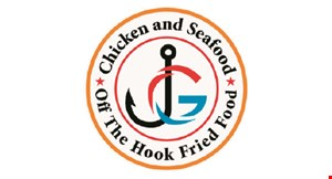 Product image for JG Chicken & Seafood $5 off any purchase of $30 or more.