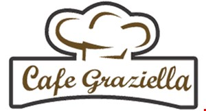 Product image for Cafe Graziella $20 Offany take out order of $100 or more takeout only.