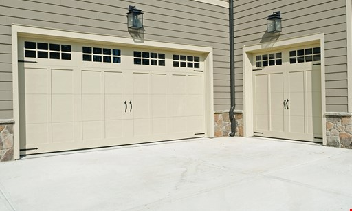 "Product image for Quick Response Garage Door 12' Garage Cabinets/Organizers $719 installed 12' x 6' x 24"" deep. $699 + tax On 2 Ceiling Racks 4' x 8'. Save $150. On Any Cabinet Purchase of $1,500 or more."