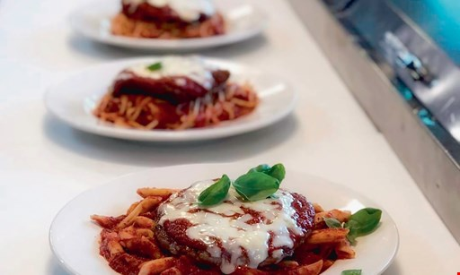 Product image for Marcel's Italian Restaurant FREE appetizer & dessert with the purchase of 2 Entrees and Drinks.