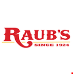 Product image for Raub's Restaurant Dine in only $3 OFF any purchase of $15 or more.