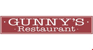 Product image for Gunny's Restaurant $1.50 off any of mama's dinners.