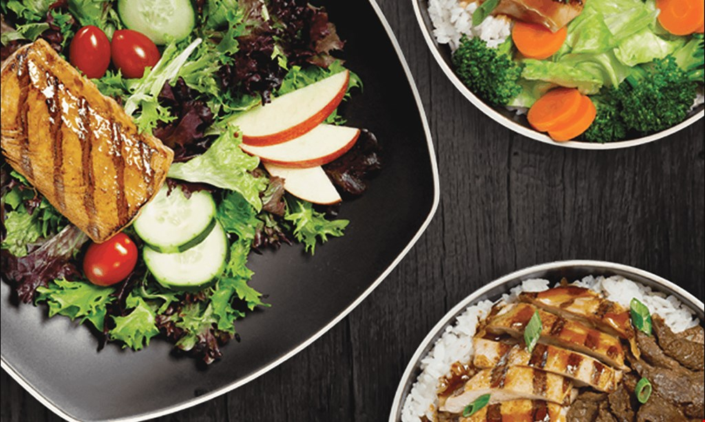 Product image for WaBa Grill Free chicken bowl with the purchase of any regular plate and two fountain drinks.