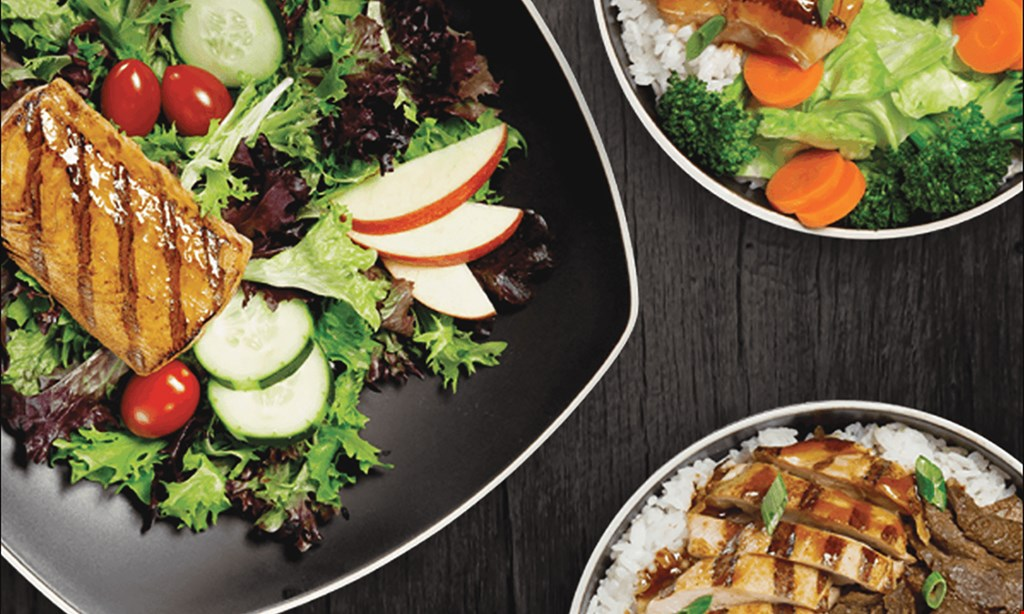 Product image for WaBa Grill Two Waba bowls & drinks $11.99.