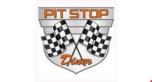 Product image for Pit Stop Diner $10 Off any purchase of $50 or more.
