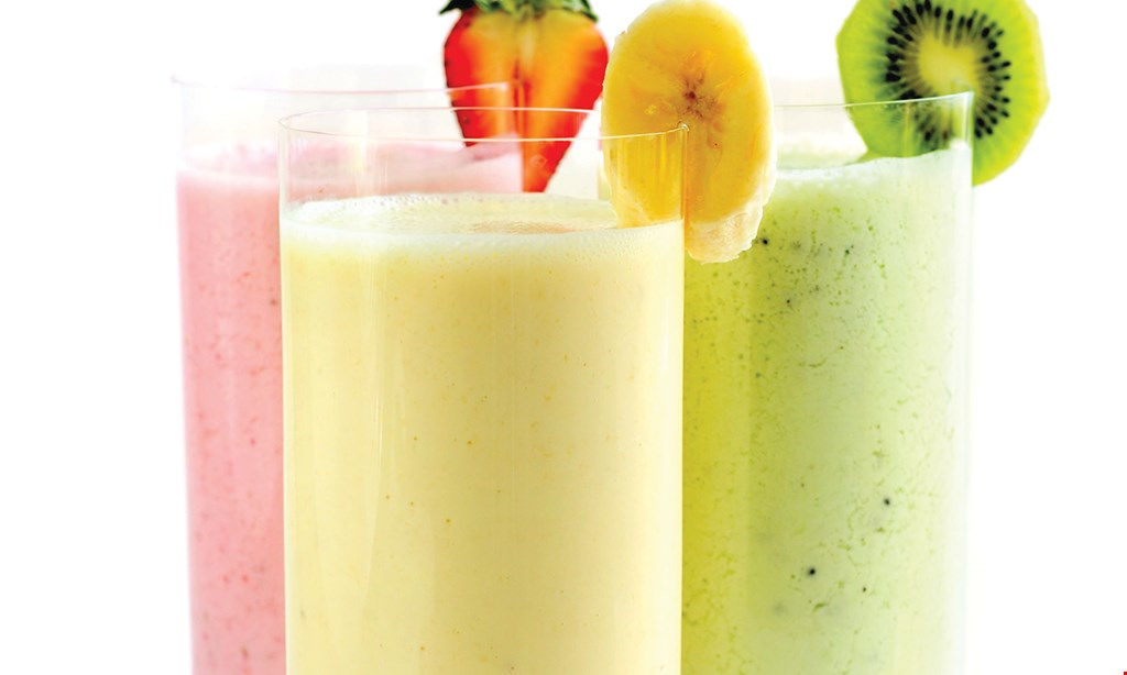 Product image for Yoyo Juice $9 small wrap & small smoothie.