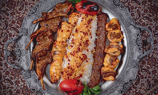 Product image for Persian Kabob Land 10% Off total bill (take-out only) with purchase of 2 beverages.