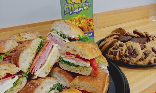 Product image for Stuffed To The Grills 1/2 OFF sandwich buy one sandwich, get 2nd sandwich of equal or lesser value 1/2 off.
