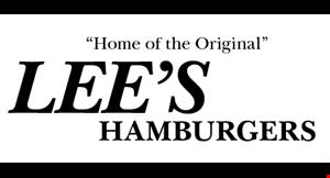 Lee's Hamburgers logo