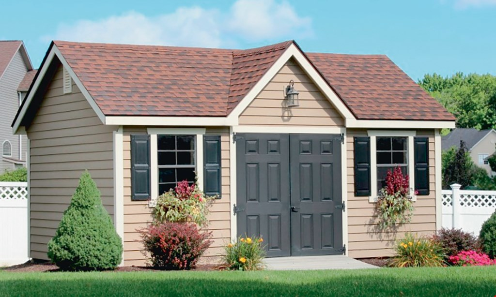 Product image for All Amish Structures Inc $100 Off any purchase of a new shed or garage