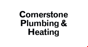 Product image for Cornerstone Plumbing & Heating $100 Off standard water heater replacement