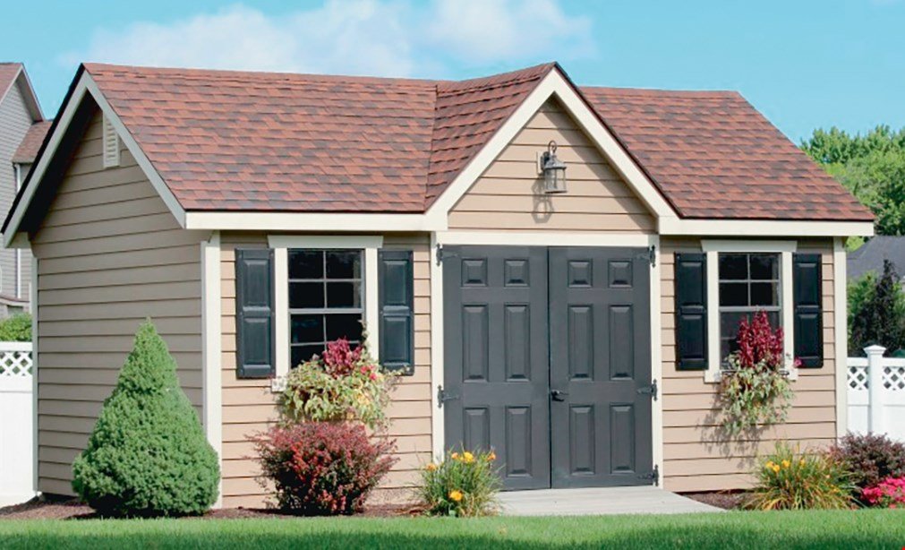 Product image for All Amish Structures Inc $100 Off any purchase of a new shed or garage.