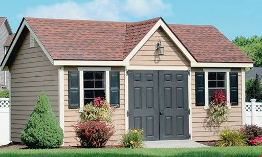 Product image for All Amish Structures, Inc $100 OFF any purchase of a new shed or garage.
