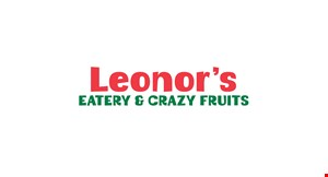 Product image for Leonor's Eatery & Crazy Fruits $2 Off any purchase of $15 or more