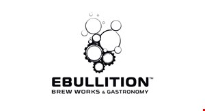 Product image for Ebullition Brew Works & Gastronomy $10 Off any order of $55 or more.