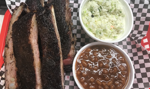 Product image for Choo Choo Bbq Smokehouse Harrison $18.99 Family Four Pack Pork, Baked beans, Slaw, Potato Salad, Buns & BBQ Sauce