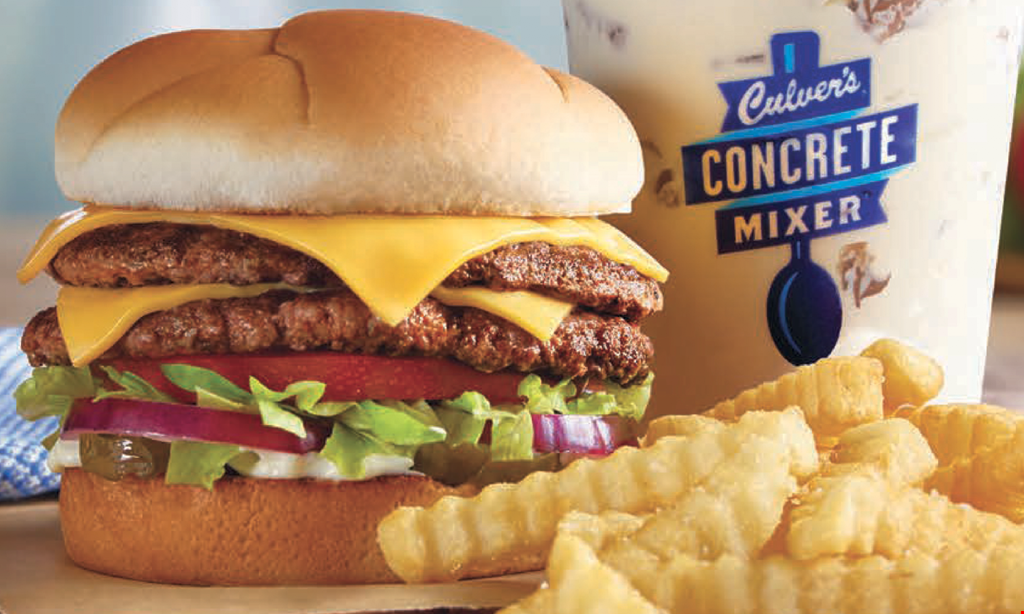 Product image for Culver's Of Apex Buy one Double Deluxe Butterburger, get one Double Deluxe Butterburger of equal or lesser value FREE