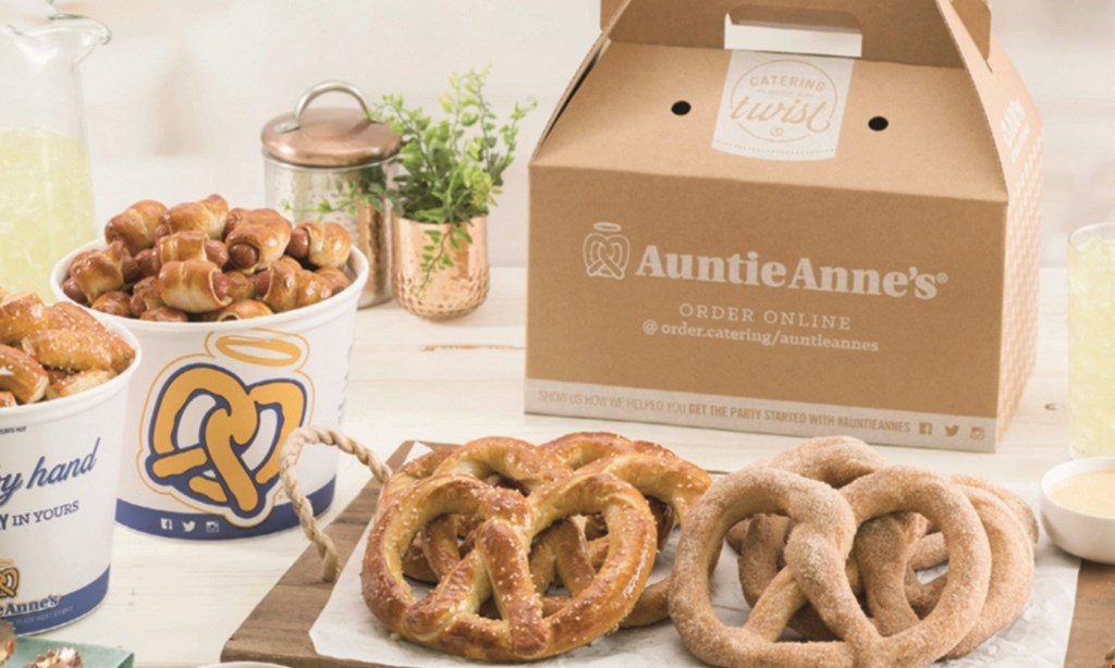 Product image for Auntie Anne's 20% OFF Any Catering Order of $25 or more.